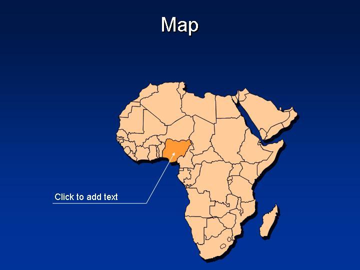 非洲版块地图地图PPT模板