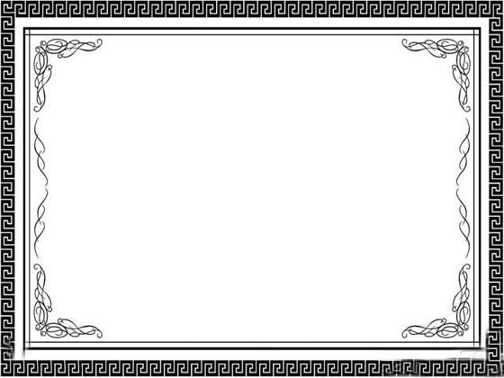 古典黑白边框ppt背景图片