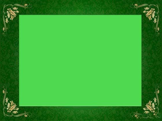 绿色边框ppt背景图片