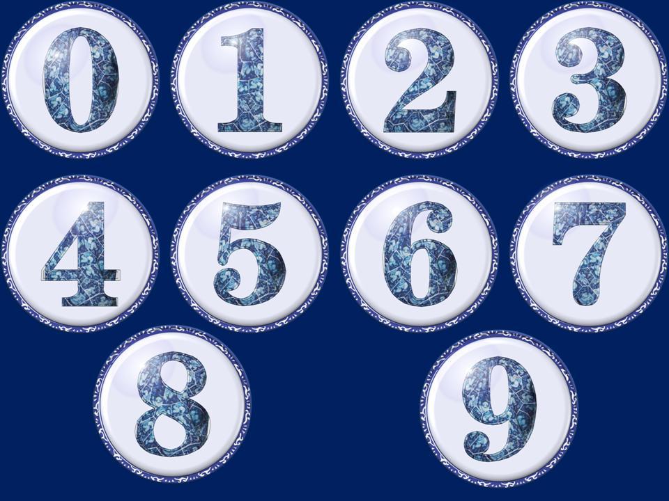 青花瓷0-9数字图标ppt素材图片
