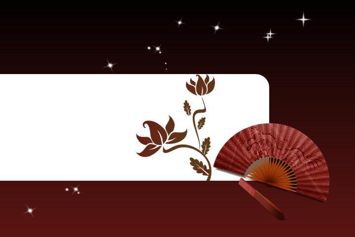 中国风古韵红色PPT模板