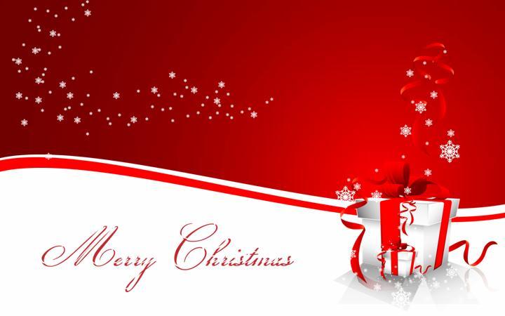 圣诞节音乐背景动态红色PPT模板