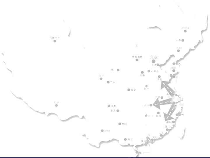 粉红碎花中国地图背景灰色PPT模板