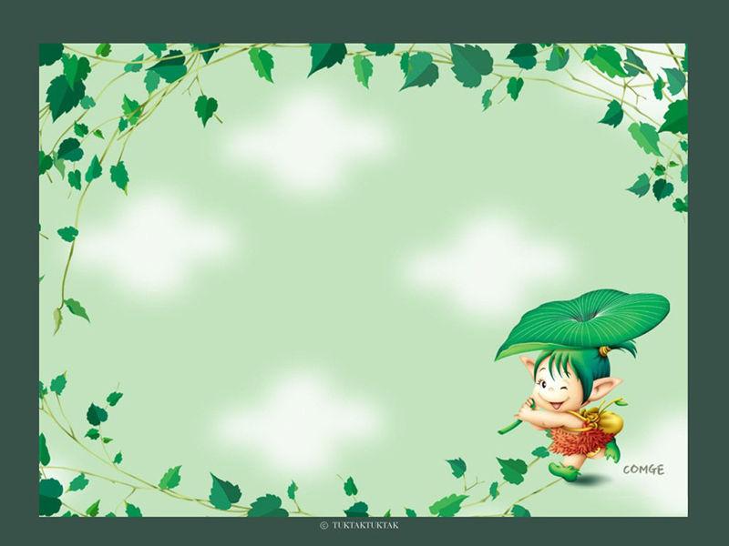 可爱卡通小孩好看的ppt背景图片