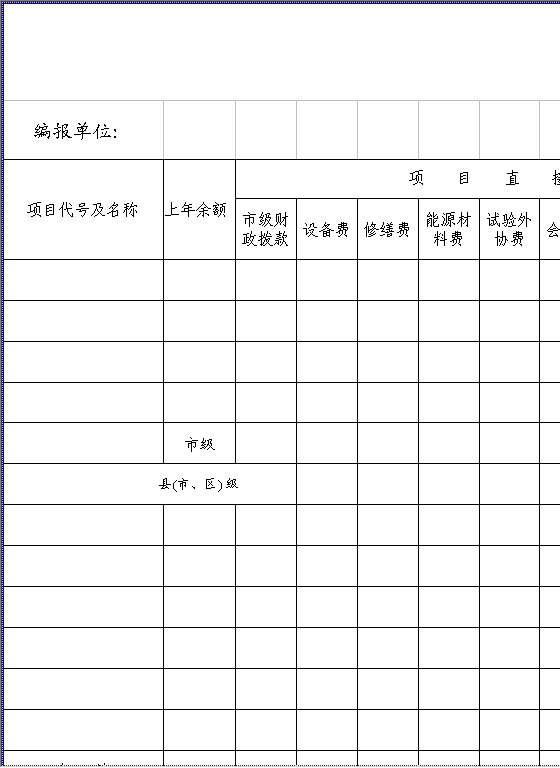 支出明细表Excel模板