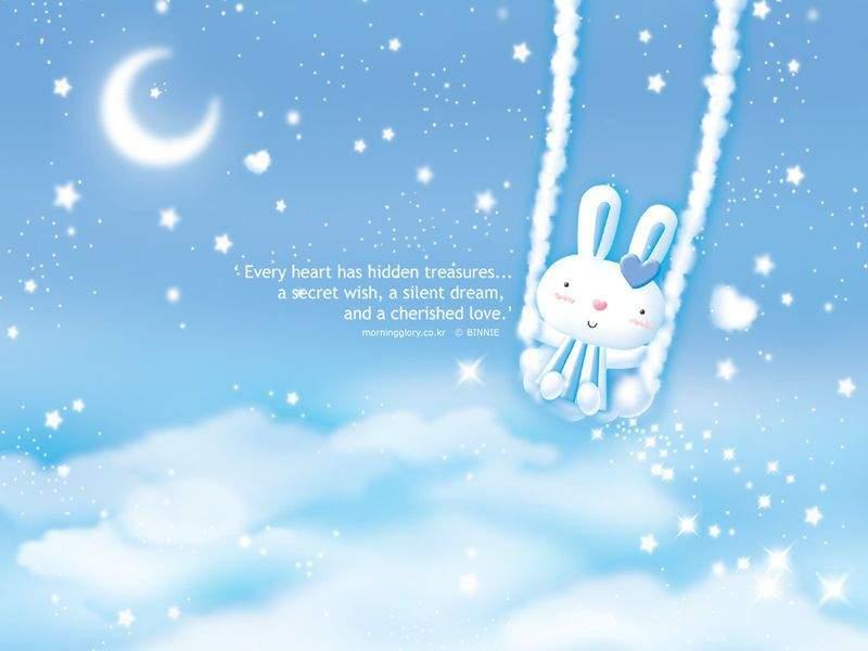 卡通好看小白兔ppt背景图片