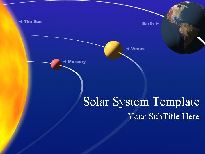 太阳系ppt模板免费下载
