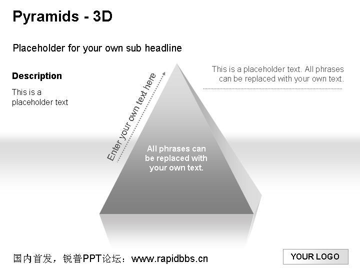 金字塔各种ppt图表