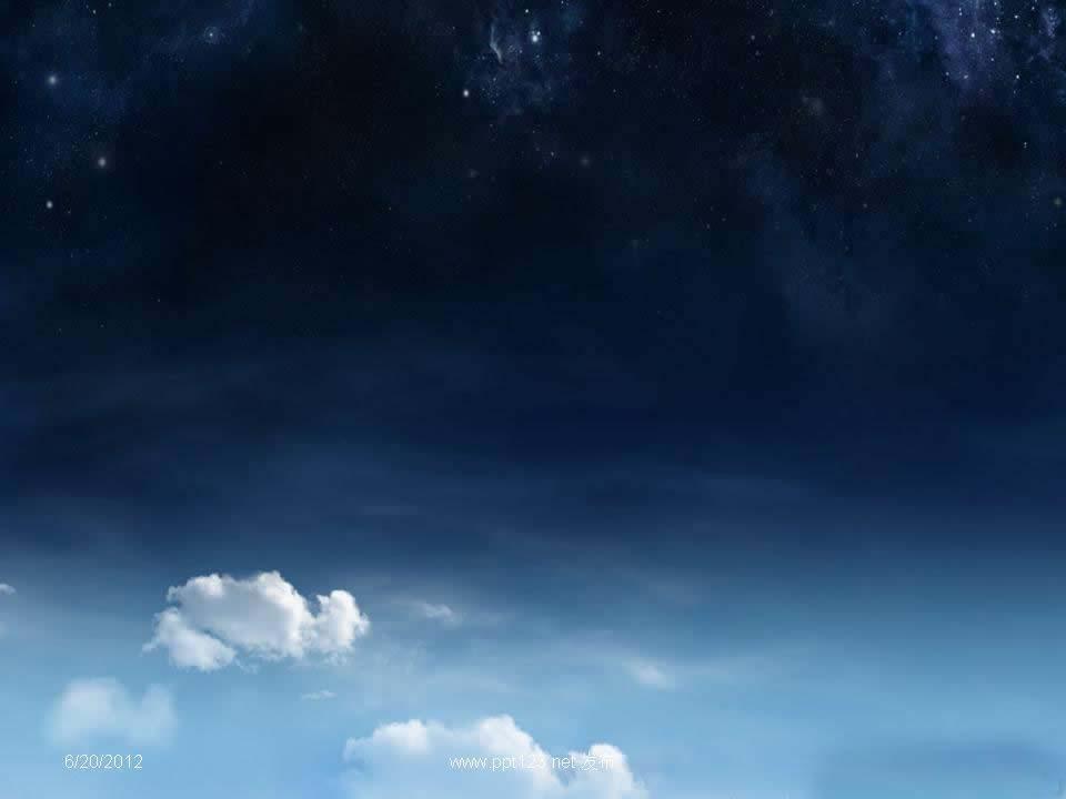 ppt课件背景图 蔚蓝色的天空背景