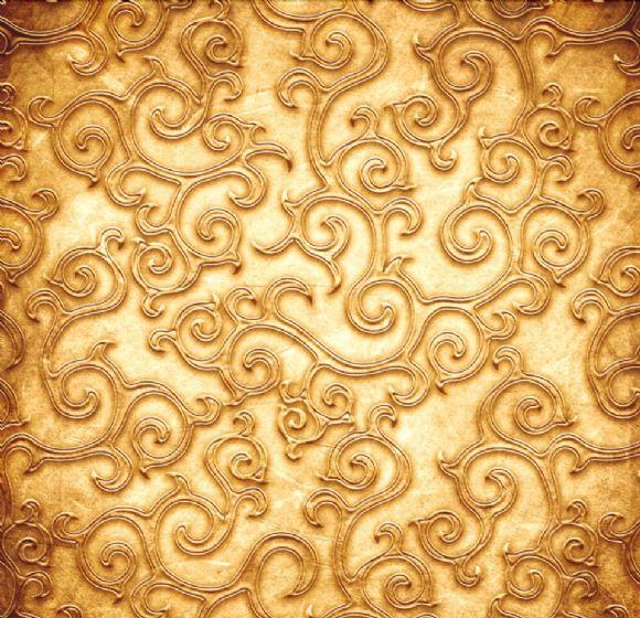 金色花纹ppt背景图片