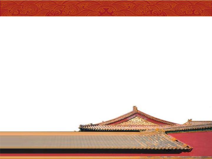中国古代建筑背景ppt模板