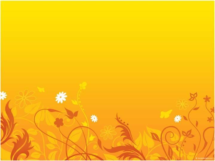 橙色花纹背景ppt模板