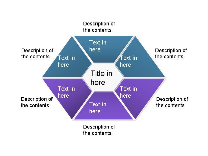 菱形组织结构图ppt模板