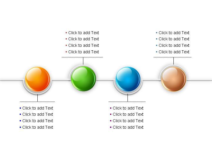 四节点ppt流程图模板