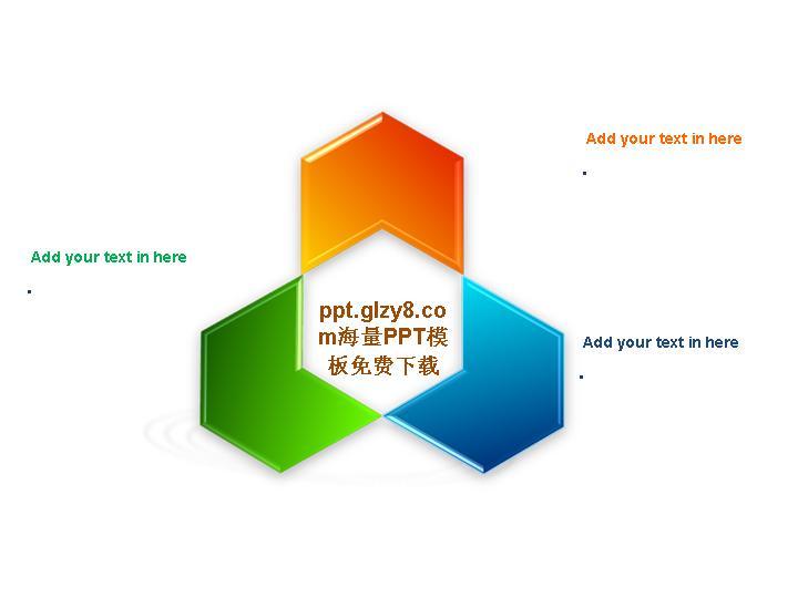 圆环环绕的ppt结构图素材