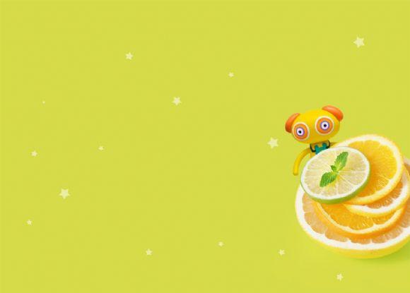 可爱橙子ppt背景图片