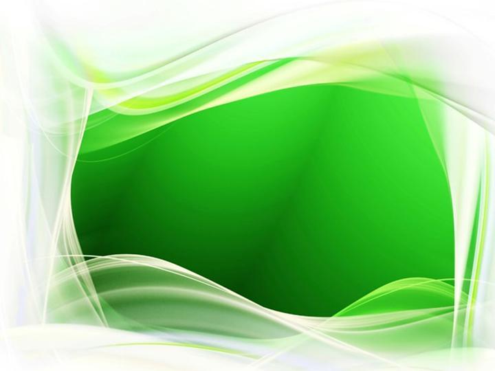优雅边框绿色背景ppt模板