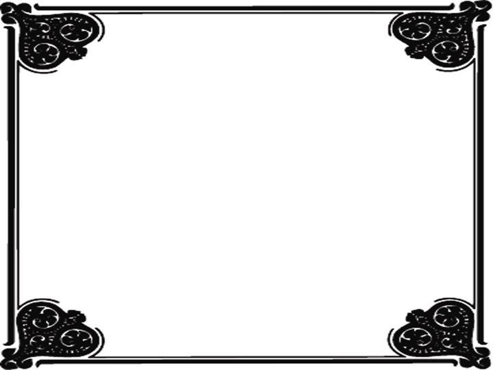 四角黑色团花图案风格ppt模板