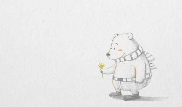 可爱的大熊ppt背景图片