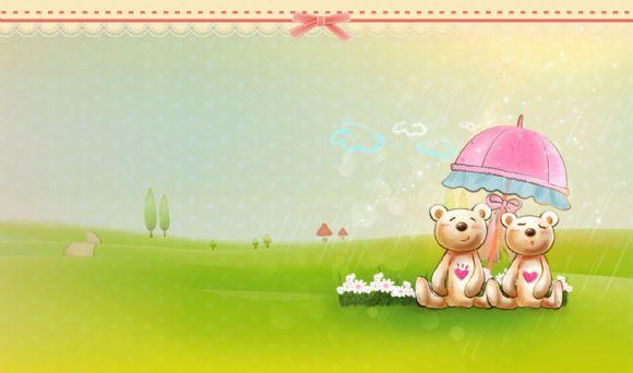 卡通可爱小熊ppt背景图片