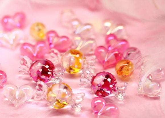 可爱水晶糖果粉色ppt背景图片