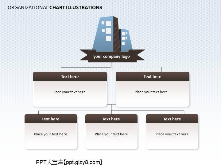 公司组织架构ppt图表