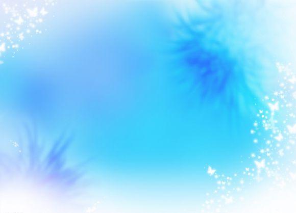 蝶影蓝色淡雅ppt背景图片