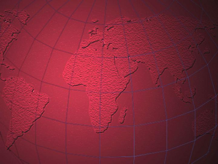 红色世界地图PPT模板
