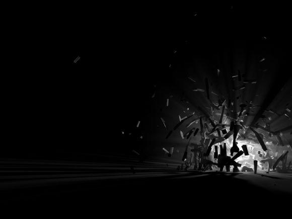 立体黑色ppt背景图片