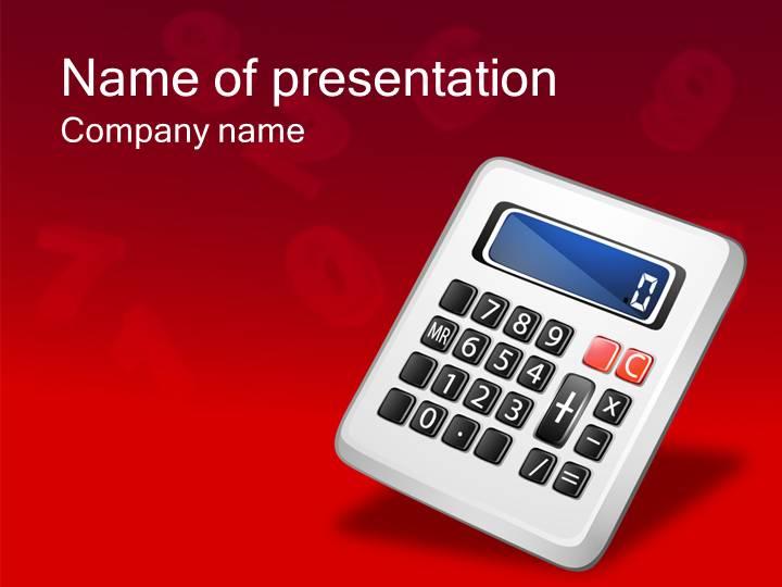 经典红色计算器产品科技ppt模版