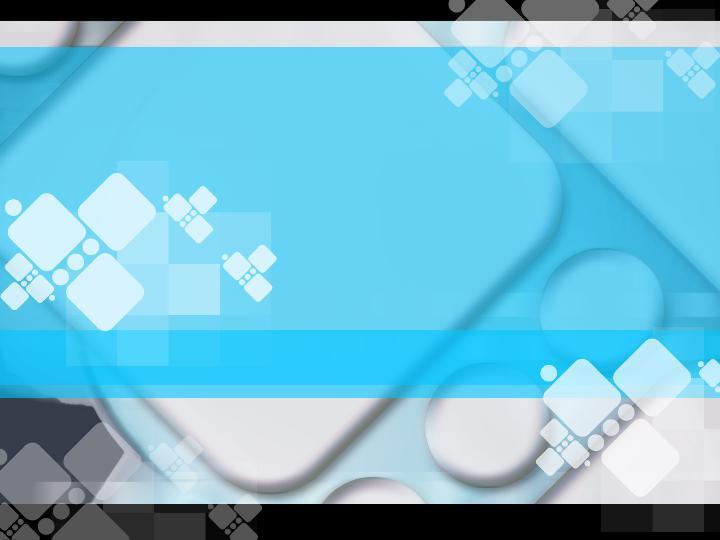 蓝色方圆风格图案PPT模板