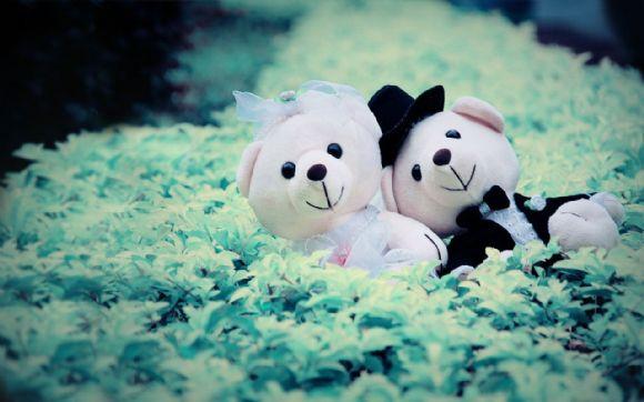 可爱的布娃娃ppt背景图片