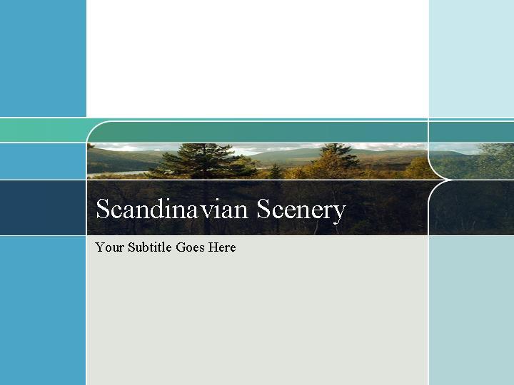 幻灯片模版scandinavian scenery PPT模板
