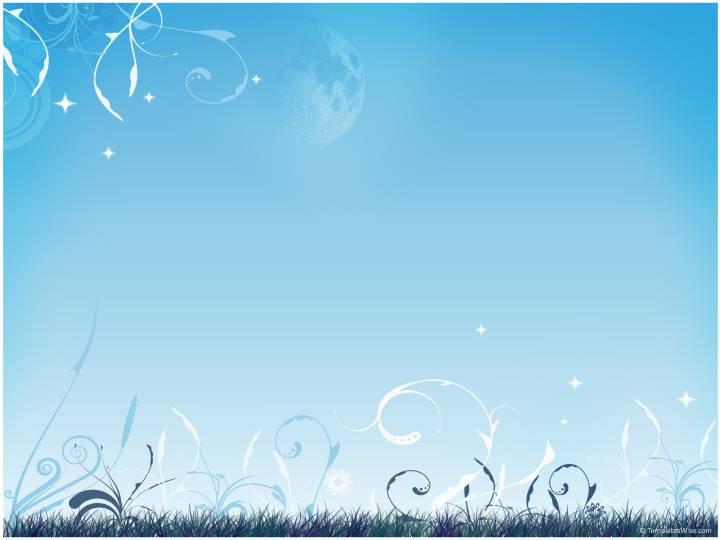 蓝色草地自然风景PPT模板