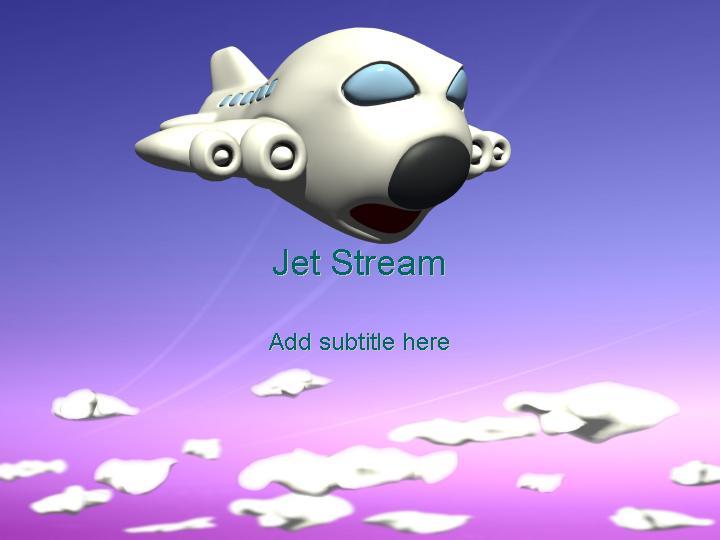 powerpoint模版交通主题喷气式飞机ppt模板