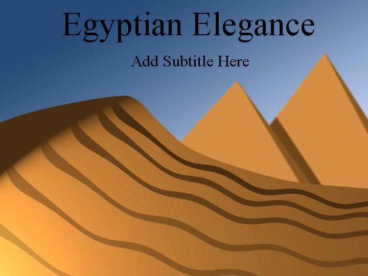 埃及金字塔其他杂项ppt模板