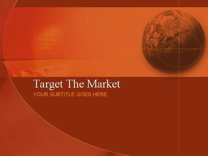 PowerPoint模版target the marketPPT模板